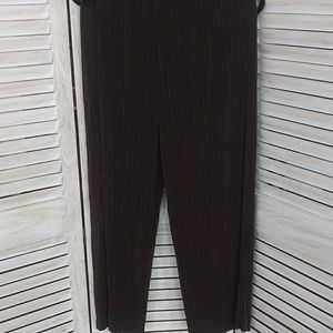 Chicos Traveler pants brown sz 3 no iron needed